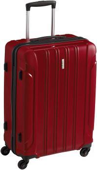Roter Reisekoffer