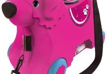 Pinker Sitzkoffer