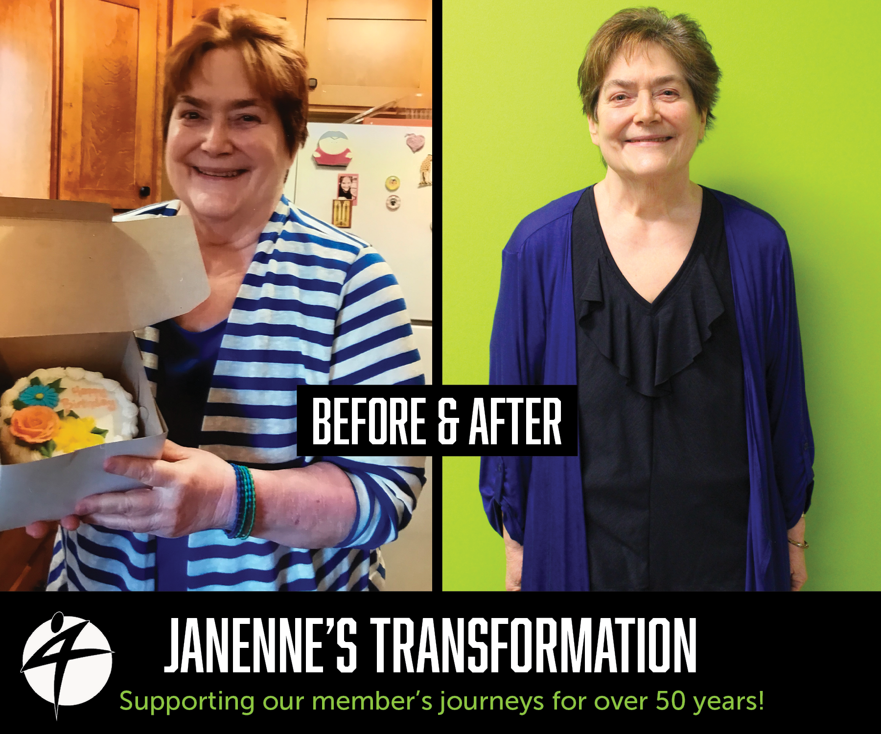 Janenne Before and After May 2018