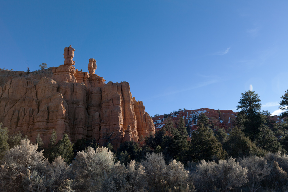 Bryce Canyon, driving through Red Canyon