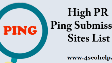 List of High DA Ping Submission Sites List