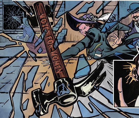 The Suffrajistus are not here to mess around. (Image: Joao Vieira/Jet City Comics)