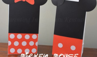 Make Your Own Mickey Mouse & Minnie Mouse Treat Bags #DisneySide