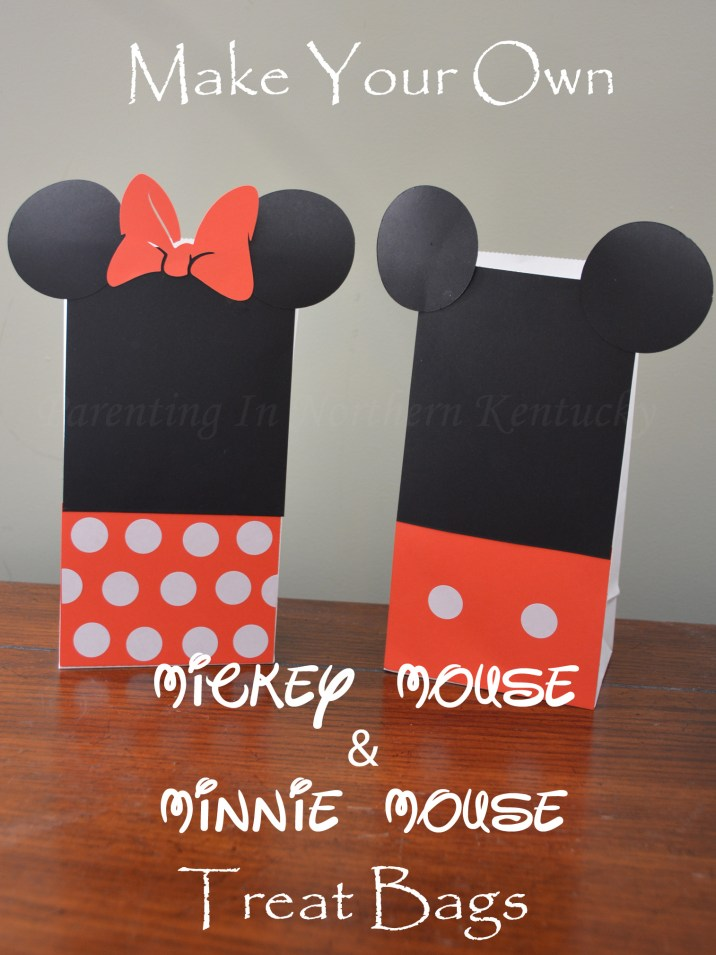 Make Your Own Mickey Mouse Minnie Mouse Treat Bags