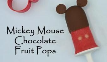 Mickey Mouse Chocolate Fruit Pops Popsicles  #Disney #Zoku