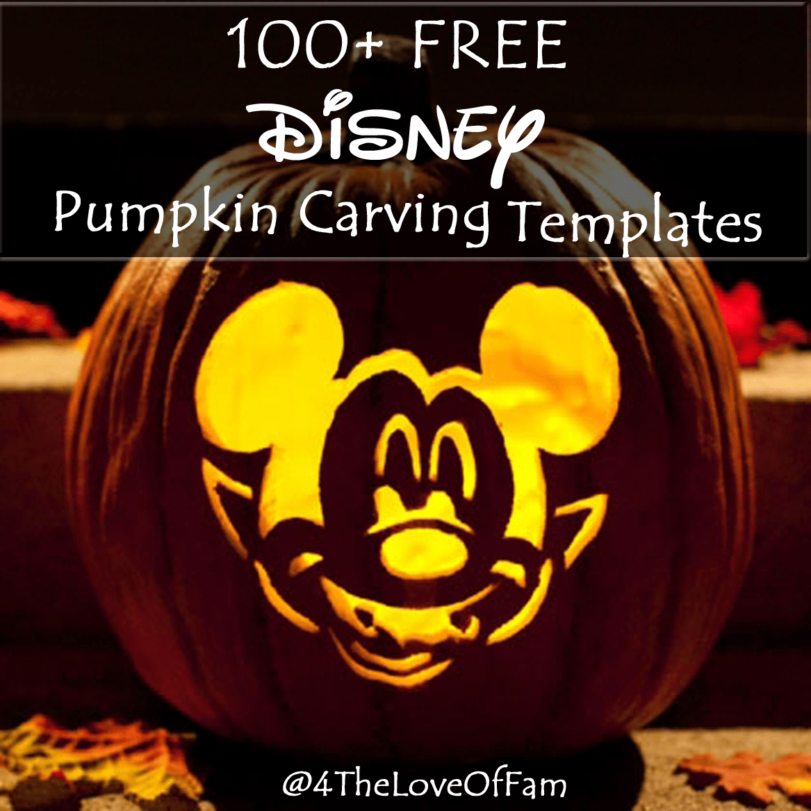 100 Free Disney Halloween Pumpkin Carving Stencil Templates W