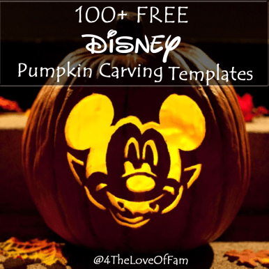 Over 100 FREE Disney Pumpkin Carving Stencil Templates from 4 The Love Of Family