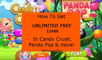 How To Get UNLIMITED FREE Lives In Candy Crush, Panda Pop & More!