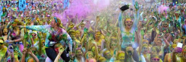It's COLORIFIC! Color Me Rad 5k at Kings Island!  and giveaway