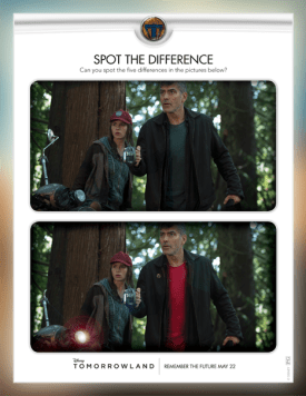 Fun Family Activity for TOMORROWLAND: A Disney Fan MUST! Spot The Difference