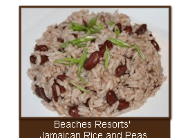 Beaches Resorts' Jamaican Rice and Peas (Beans)