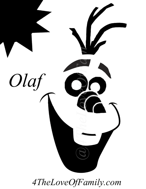 photograph regarding Olaf Printable Cut Out referred to as Absolutely free FROZEN Pumpkin Carving Halloween Templates ~ Absolutely free
