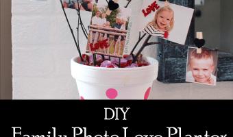 DIY Family Photo Love Planter