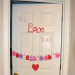 Countdown To Valentine's Day Hanging Hearts Door