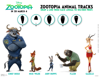 Disney's ZOOTOPIA Activities & Printables