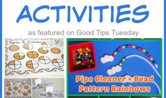 Preschool Learning Activities Round Up