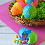 Paper Mache Spring Easter Eggs Kid's Craft