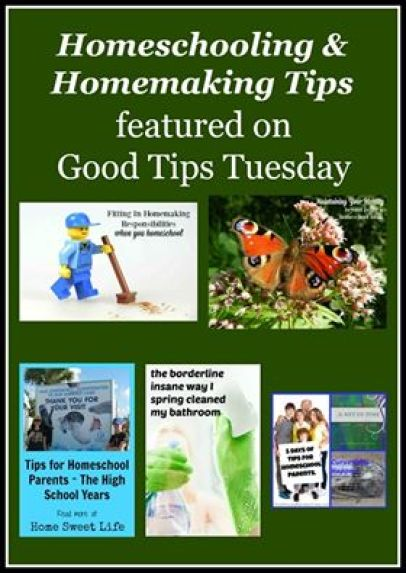 Homeschooling & Homemaking Tips Good Tips Tuesday LinkUp Party #119!