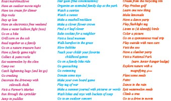 The BEST 100 Activities Summer Bucket List For the Family