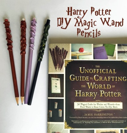 How fun are these??? Harry Potter DIY Magic Wand Pencils 12
