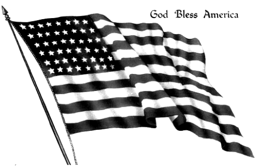 Fourth of July American Flag Clip art