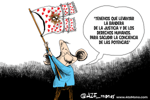 Ortega y la bandera