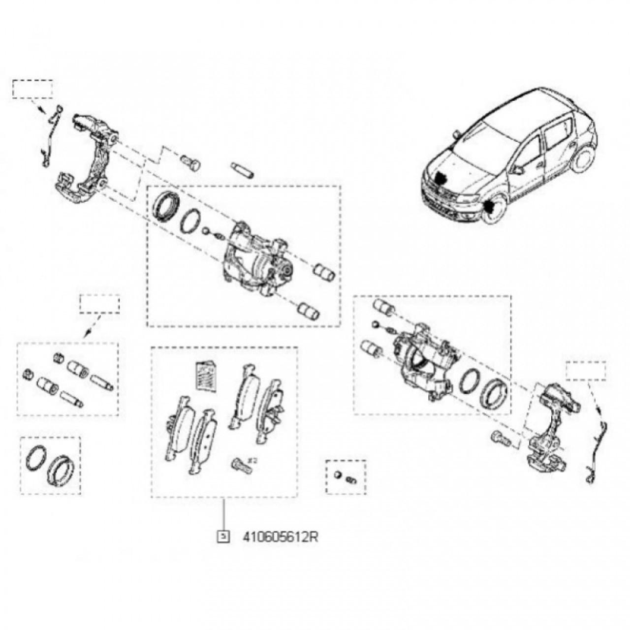 Set Placute Frana Dacia Logan 2 R