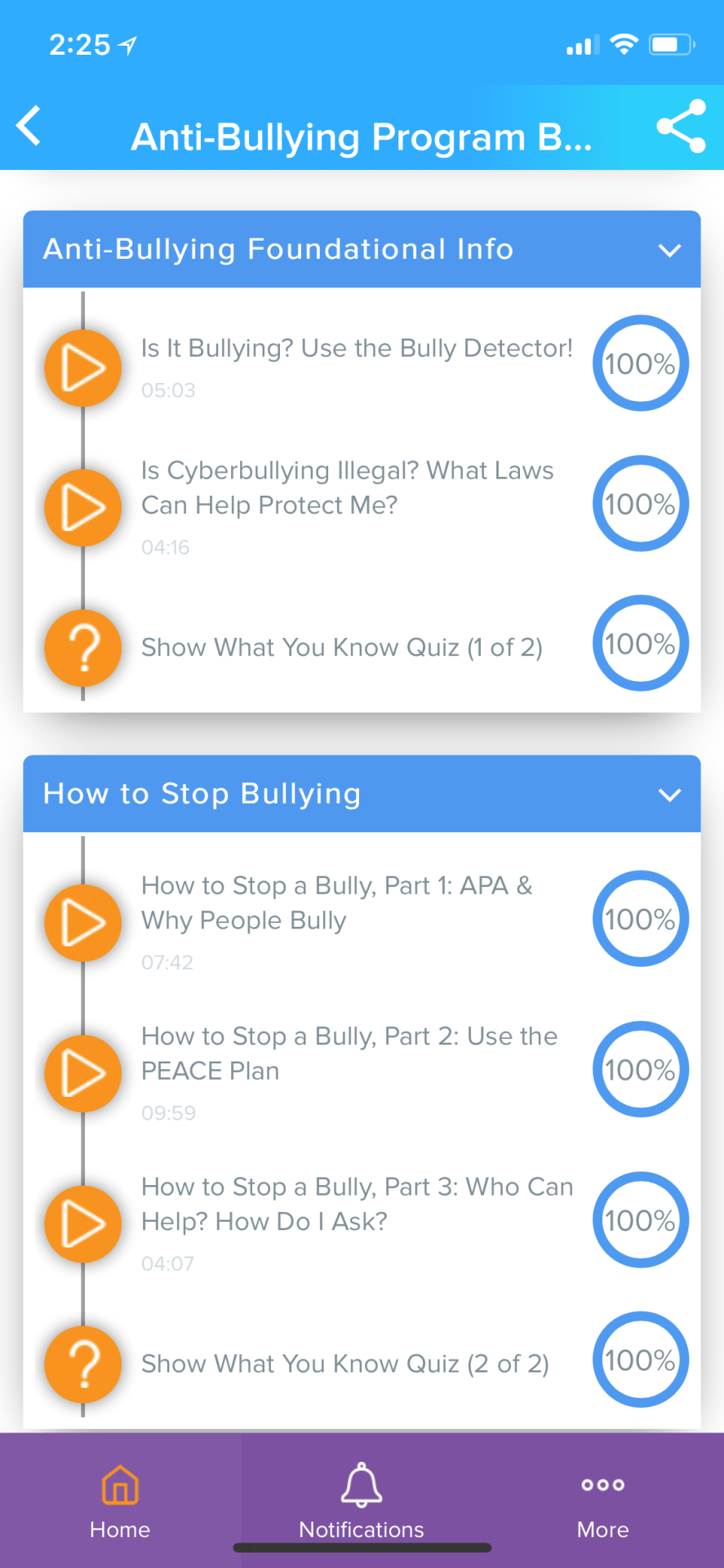 UpGo Anti-Bullying Course screen2