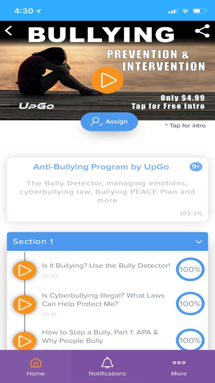 UpGo Internet Safety & Life Skills Education for Families & Schools | App,  Video Lessons, Anti-Bullying Stop Cyberbullying Program