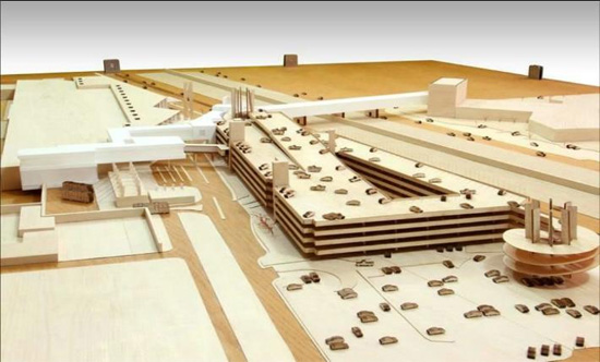 Boceto arquitectónico del aeropuerto binacional en Tijuana (Imagen: internet).