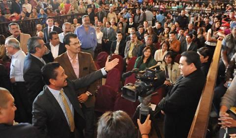 El alcalde Gilberto Hirata en la instalación de la Asamblea Plenaria del COPLDEM Ensenada (Foto: Archivo).