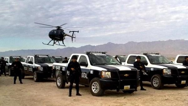 Una camioneta-patrulla como estas, de la Policía Estatal Preventiva (PEP) y marcada con el número 591, fue la que se uso para intentar detener al dirigente indígena Fidel Sánchez Gabriel (Foto: internet).