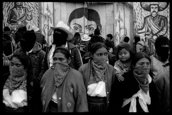 """Los """"nadie"""", en versión indígena neozapatista (Foto: internet)."""