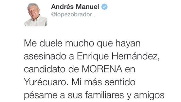 AMLO Y ASESINATO CANDIDATO MORENA
