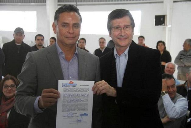 El diputado electo y su suplente, el contador Tarín Perinsky (Foto: internet).