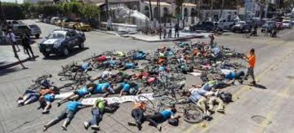 CICLISTAS PROTESTA CALLE