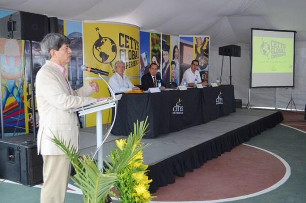 El Rector Fernando León, en su discurso en el CETYS Global Experience 2015