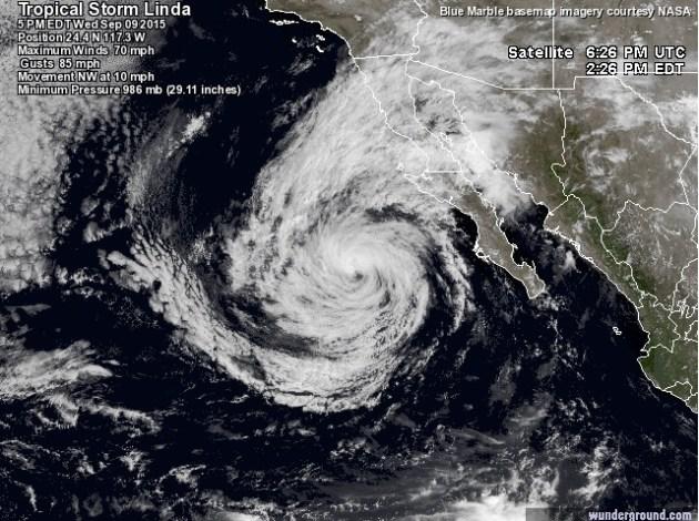 Tormenta tropical Linda 1
