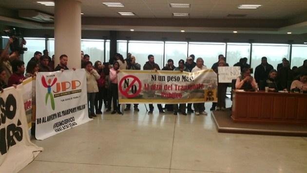 La protesta ciudadana en el cabildo (Foto: archivo)