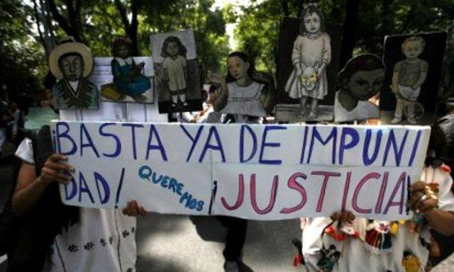 BASTA IMPUNIDAD PROTESTA