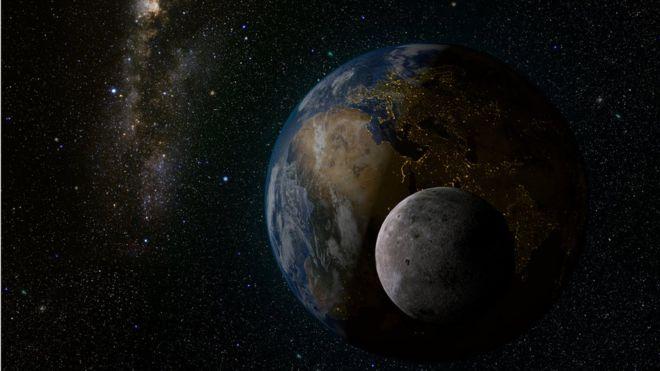 La Luna no es la única que acompaña a la Tierra en su vuelta al Sol (Foto: BBC Mundo).