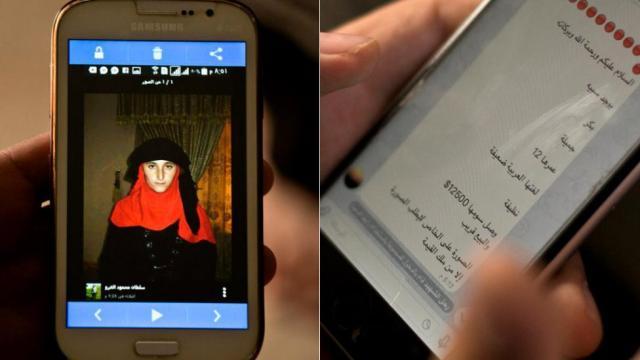Esclavas sexuales en venta por interner, presuntamente por el Estado Islámico (Foto: Reuters).