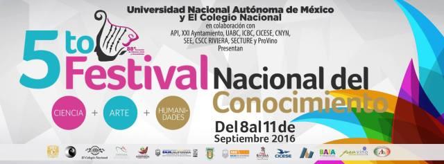 FESTIVAL CONOCIMIENTO UNAM QUINTA EDICION LOGO