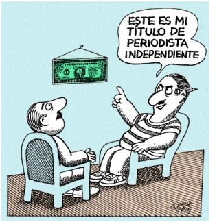 """Periodista """"independiente"""". Imagen: Internet."""