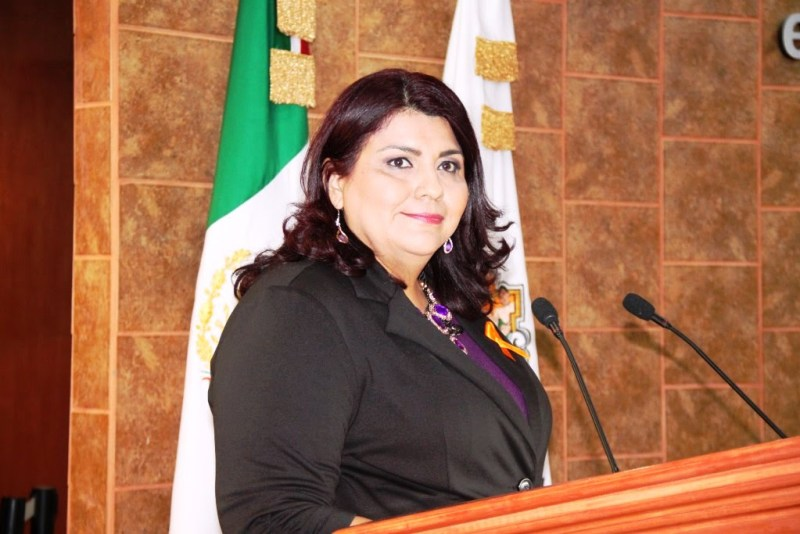 la diputada Eva María Vázquez Hernández, presidente de la Comisión de Fiscalización del Gasto Público (Foto: Congreso del Estado).