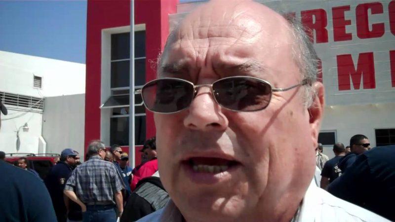 Nicolás Serenil cuando era director de Bomberos de Ensenada, en el gobierno municipa, que presidió Enrique Pelayo Torres (Internet).