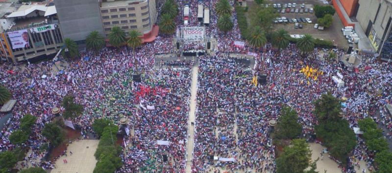 AMLO atrae a multitudes, desde el año 2000 a la actualidad. Foto: internet