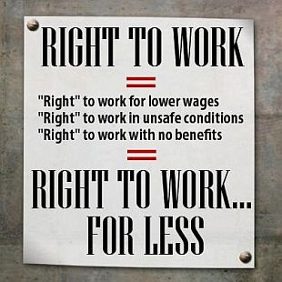 Right to Work Laws: Big Business Subjugating Its Workers