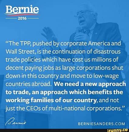 Bernie Sanders on the TPP