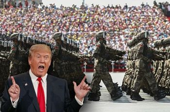 Donald Trump and his military parade